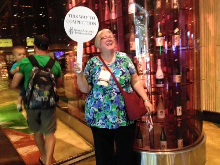 Magic City Chorus member Norma volunteering at the International Competition in Las Vegas